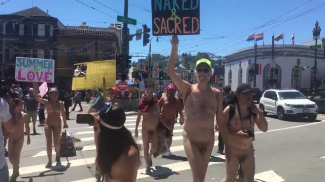 contains nudity interviews and broll footages of the summer of love event in san francisco participants marched along castro street in san francisco... - naked stock videos & royalty-free footage