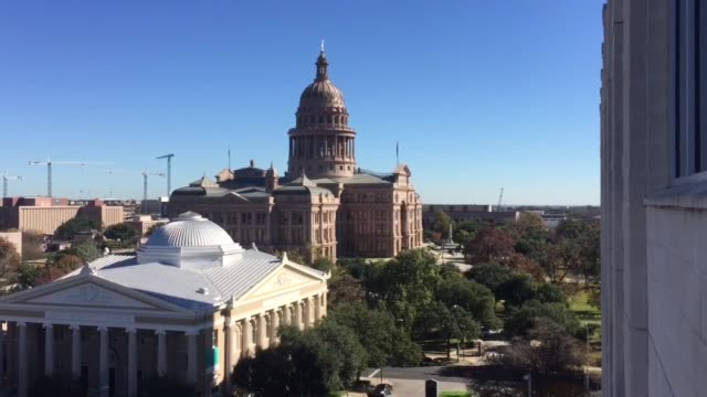 """interviews asking: """"how do you feel about the new expanded gun laws in texas?"""" additionally, various shots of the texas state capitol building. texas... - mos stock videos & royalty-free footage"""