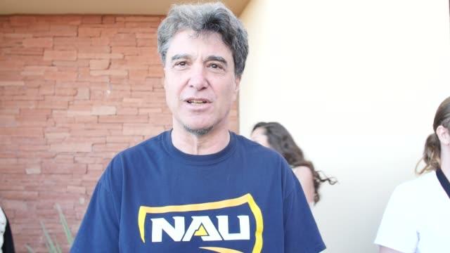 interviews at bernie sanders rally flagstaff arizona - flagstaff arizona video stock e b–roll