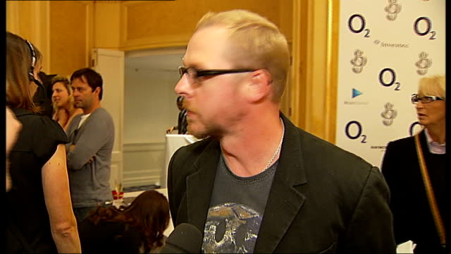 interviews at silver clef awards in london simon pegg posing for photographers and interview sot on presenting award on what he is doing next on... - simon pegg stock videos & royalty-free footage