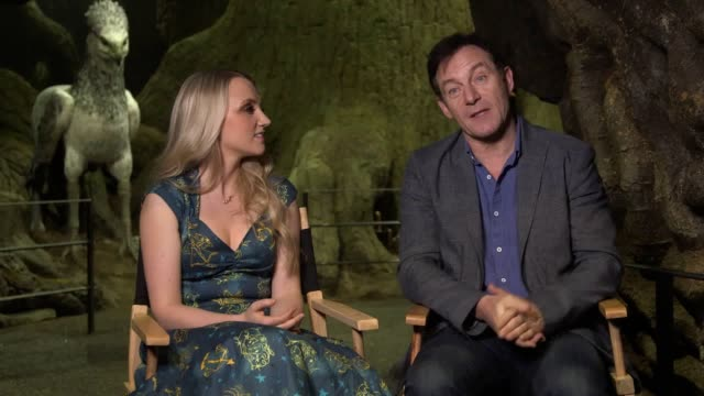 interviews with actors jason isaacs and evanna lynch and james and oliver phelps as the warner bros. studio tour london opens its new 'forbidden... - warner bros stock videos & royalty-free footage