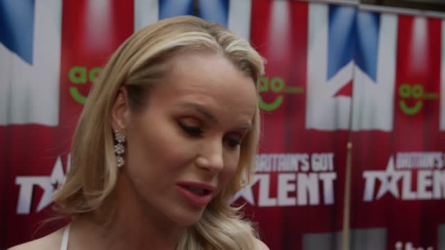 interviews with amanda holden and alesha dixon at the launch of britain's got talent. they talk about the quality of this year's contestants, the... - britain's got talent stock-videos und b-roll-filmmaterial