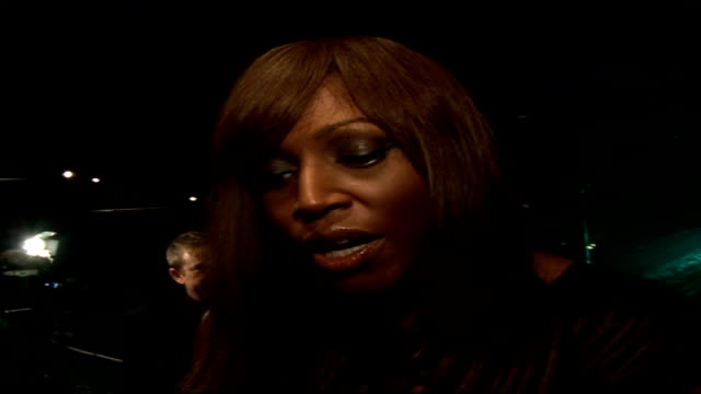 interviews with celebrities attending emeralds ivy ball mica paris interview sot big event as all the cancer charities are here under one roof / i've... - reality fernsehen stock-videos und b-roll-filmmaterial
