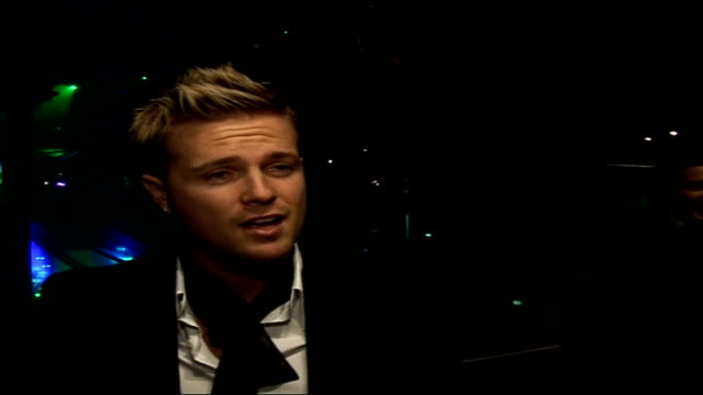 interviews with celebrities attending emeralds ivy ball nicky byrne interview sot obviously a big deal / good friends with ronan / good night out /... - only boys stock videos & royalty-free footage
