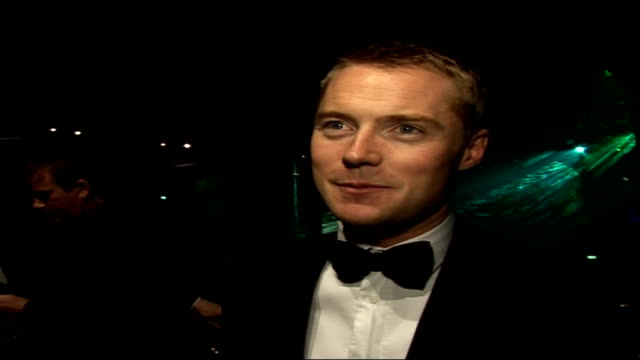 interviews with celebrities attending emeralds & ivy ball; ronan keating interview sot - first marie keating foundation ball in the uk / very... - ronan keating stock videos & royalty-free footage