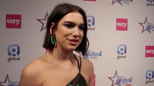 Interviews with Dua Lipa and Mark Ronson in The Global Awards winners room Dua Lipa won Best Female and Best British Artist or Group and Mark Ronson...