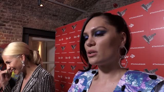 Interviews with Emma Willis william Pixie Lott Danny Jones and Jessie J at the Voice Kids 2019 photocall held at The Royal Society of Arts London
