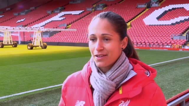 vidéos et rushes de interviews with liverpool women's forward courtney sweetman-kirk, and manager vicky jepson ahead of the merseyside derby against everton in the... - everton