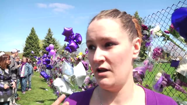 interviews with local fans paying tribute to prince at his paisley park home/recording studio, tagged with b-roll. names slated before interview. - prince stock videos & royalty-free footage