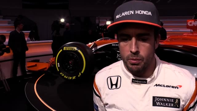 interviews with mclaren drivers fernando alonso stoffel vandoorne and mclaren executive director zak brown as mclarenhonda reveal their new car ahead... - executive director stock videos & royalty-free footage