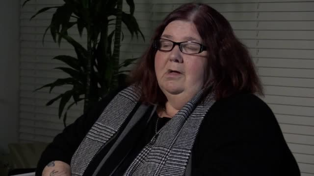 interviews with michelle hadaway susan fellows and barrie fellows whose daughters karen hadaway and nicola fellows were murdered by 'wicked'... - killing people stock videos & royalty-free footage