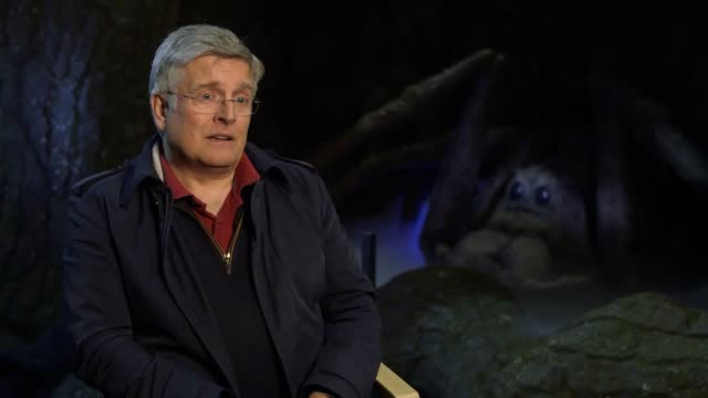 interviews with nick dudman, creature and make-up effects designer as the warner bros. studio tour london opens its new 'forbidden forest' attraction... - warner bros stock videos & royalty-free footage