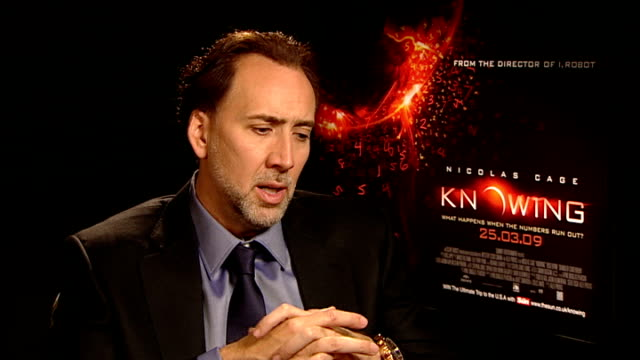 interviews with nicolas cage and rose byrne england london int nicolas cage interview sot on the visual style of 'knowing' / on his character john... - rose byrne stock videos and b-roll footage