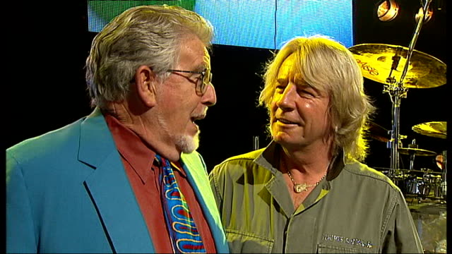 interviews with rolf harris and rick parfitt england london int rolf harris and rick parfitt who have teamed up to do christmas single 'christmas in... - guitarist stock videos & royalty-free footage
