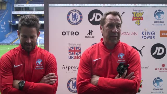 Interviews with Soccer Aid participants Piers Morgan Jamie Redknapp David Seaman Mo Farah Lee Mack Ben Shephard Sam Allardyce Rachel Yankey Katie...