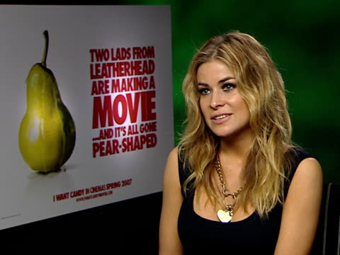 interviews with stars of 'i want candy' film carmen electra interview sot on pressures of papparazzi / this has probably been one of the best years... - carmen electra stock videos and b-roll footage