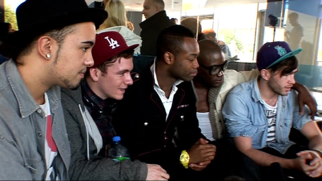 interviews with xfactor contestants fyd interview sot on not being manufactured makes it special / on jls condoms their mums said if you get that far... - 2010 bildbanksvideor och videomaterial från bakom kulisserna