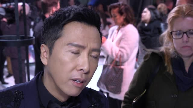 Return of Xander Cage stars Donnie Yen MMA fighter Michael Bisping and Ruby Rose at the European Premiere Donnie Yen talks about doing his own stunts...