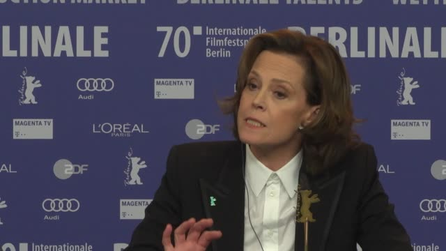 sigourney weaver actress on her relationship with fans and whether she'll ever be seen in a new 'avatar' movie at the 'my salinger year' press... - sigourney weaver stock videos & royalty-free footage
