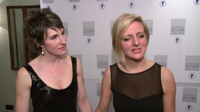 tamsin grieg & marianne elliott on how her various touches to her revival of george bernard shaw's saint joan won her the olivier award for best... - ジョージ バーナード ショー点の映像素材/bロール
