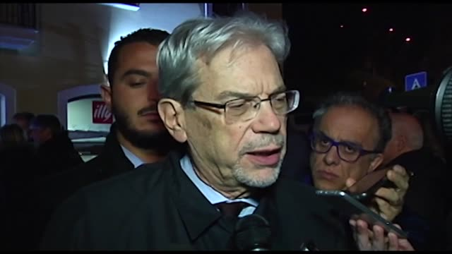 Inteview to Minister for Territorial Cohesion and the South Claudio De Vincenti during a torchlight procession for earthquake victims in L'Aquila...