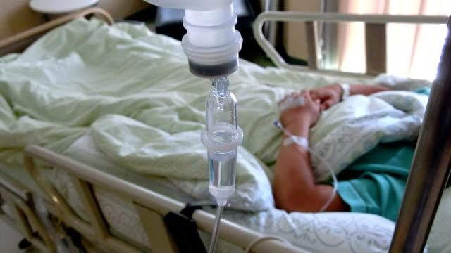 Intravenous drip in sick room