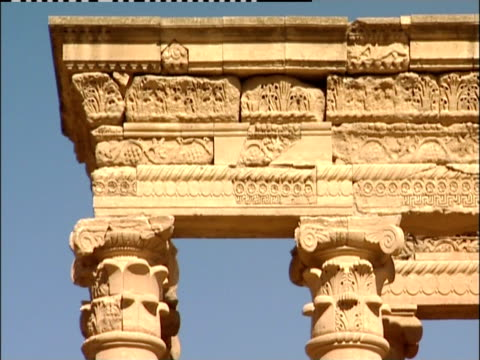 intricate carvings top the columns of an ancient building in iraq. - column stock videos & royalty-free footage