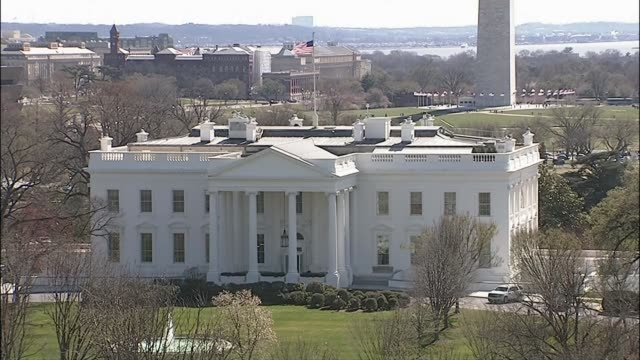 Intruder arrested after entering grounds of the White House USA Washington DC EXT General view of the White House