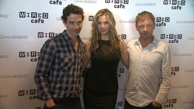 Intruders Cast Mira Sorvino James Frain and John Simm WIRED Cafe @ ComicCon Day 2 at Omni Hotel on July 26 2014 in San Diego California