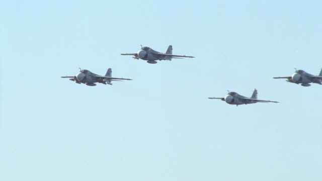 a-6 intruders in formation perform an air salute. - saluting stock videos & royalty-free footage