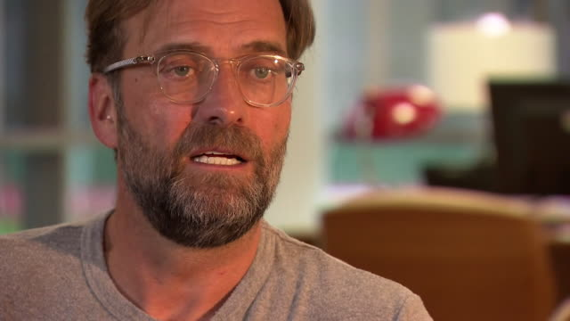 intv jurgen klopp liverpool fc manager talks about his love for the city of liverpool - love emotion stock videos & royalty-free footage