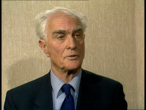02 Intvw Conservative MP Sir Anthony Meyer on his London challenge to PM Margaret Thatcher for the leadership ITN of the Conservative Party 1912...