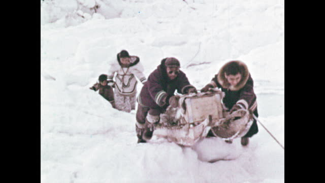 inuit family spring journey - inuit stock videos & royalty-free footage