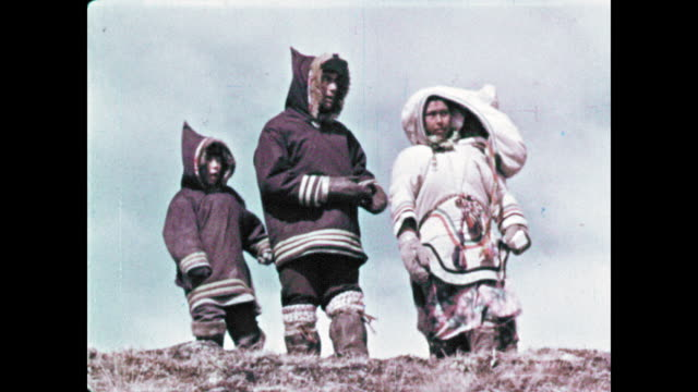 inuit life changing, modernizing - inuit stock videos and b-roll footage