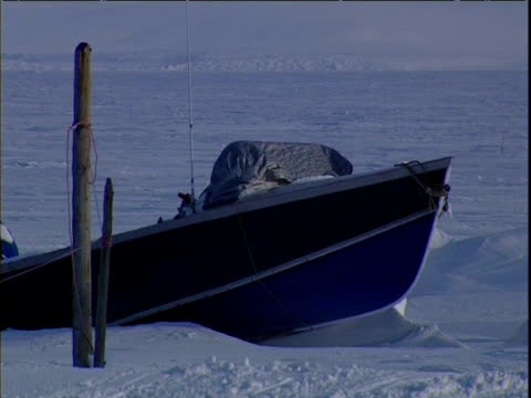 inuit village abandoned due to ice melt alaska - inuit stock videos & royalty-free footage