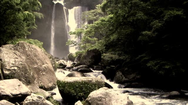 hd: inukai falls. sepia (video) - sepia stock videos & royalty-free footage
