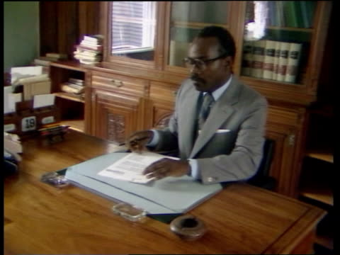 us invasion st george government house pan ms sir paul scoon governor general of grenada cs framed letter with 'elizabeth r' signature pull ms... - st. george's grenada stock videos and b-roll footage