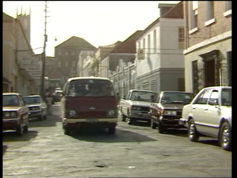 us invasion st george street freeze - st. george's grenada stock videos and b-roll footage