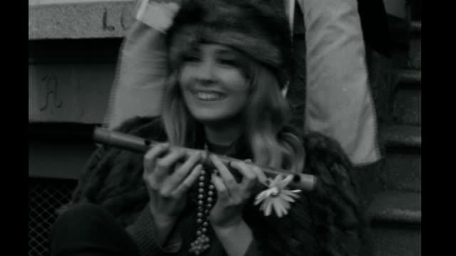 lsd inventor albert hofmann dies s23020702 orig tx ext various b/w shots of hippies dancing - haight ashbury stock videos & royalty-free footage