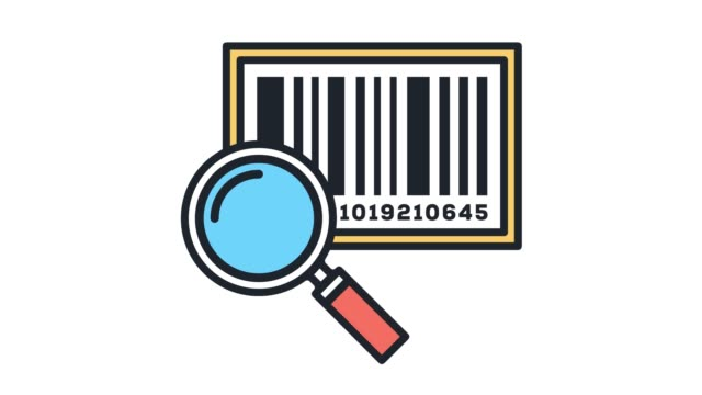 inventory control systems line icon animation with alpha - label stock videos & royalty-free footage