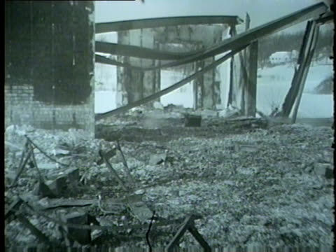 inverness country club severely damaged after a fire near chicago in 1959 - 1959 stock videos & royalty-free footage