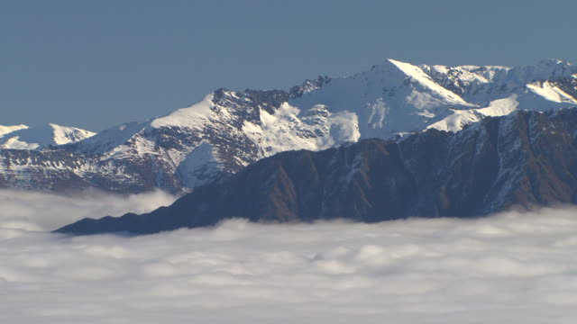 inversion layer at coronet peak - otago region stock videos & royalty-free footage