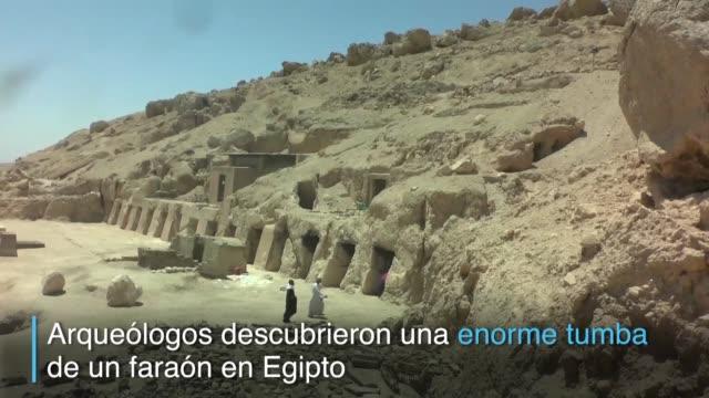investigadores descubren una tumba de la 18va dinastia que por su tamano es considerada de las mas grandes del sitio arqueologico uno de los... - arqueologia stock videos & royalty-free footage