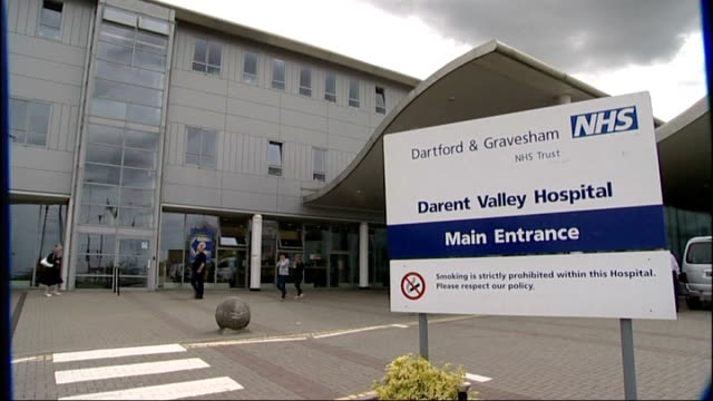 investigation after woman suffering from rabies was turned away from hospital lib / kent dartford ext various of darent valley hospital building... - rabies stock videos & royalty-free footage