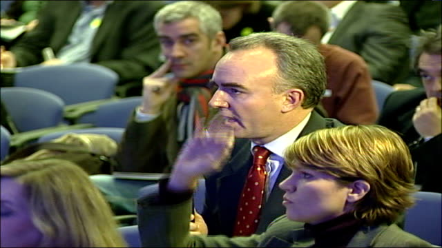 investigation into diana, princess of wales death rules out conspiracy; england: london: itn reporter james mates asking lord stevens question at... - door chain stock videos & royalty-free footage