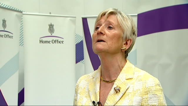 investigation launched into police stop and search powers; england: london: int baroness pauline neville-jones interview sot - 男爵夫人点の映像素材/bロール