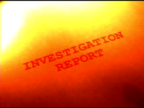 stockvideo's en b-roll-footage met investigation report on fire - rapport