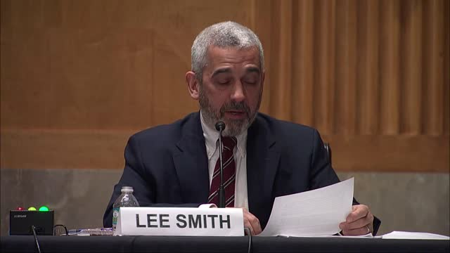 investigative journalist lee smith tells a senate homeland security and governmental affairs committee hearing on congressional oversight and news... - human joint stock videos & royalty-free footage