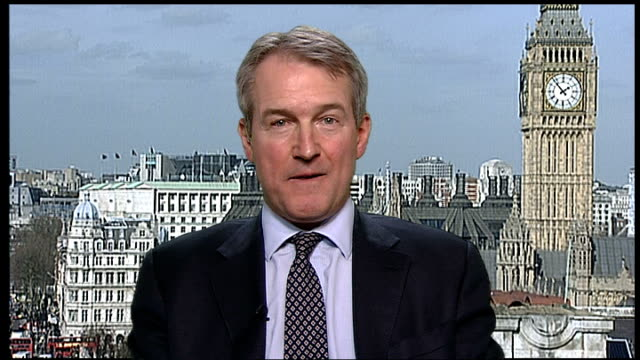 investment promised to make somerset levels less vulnerable to flooding england london gir int owen paterson mp 2way interview from westminster sot - owen paterson stock videos and b-roll footage