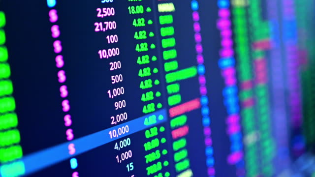investment theme stockmarket and finance business analysis stockmarket with digital tablet - male likeness stock videos & royalty-free footage